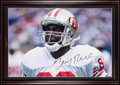 Football Collectibles:Photos, Jerry Rice Signed Oversized Photograph. ...