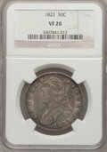 Bust Half Dollars: , 1822 50C VF20 NGC. NGC Census: (9/591). PCGS Population (10/791).Mintage: 1,559,573. Numismedia Wsl. Price for problem fre...