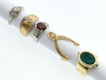 Estate Jewelry:Rings, Diamond, Multi-Stone, Gold Rings. ... (Total: 5 Items)