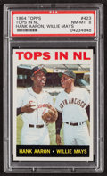 "Baseball Cards:Singles (1960-1969), 1964 Topps Aaron/Mays ""Tops in NL"" #423 PSA NM-MT 8...."