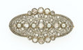 Estate Jewelry:Brooches - Pins, Diamond, Cultured Pearl, Platinum-Topped Gold Brooch. ...