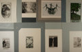 "Books:Prints & Leaves, Group of Eight Bookplate Prints. Seven German and one French,lithographs and etchings. 9"" x 12"" or slightly smaller, mounte...(Total: 8 Items)"