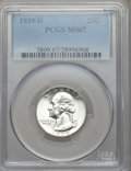 Washington Quarters, 1939-D 25C MS67 PCGS....