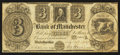 Obsoletes By State:Michigan, Manchester, MI - Bank of Manchester $3 Nov. 20, 1837. ...