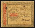 Colonial Notes:Continental Congress Issues, Continental Currency January 14, 1779 $50 Very Fine-ExtremelyFine.. ...