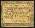 Colonial Notes:Pennsylvania, Pennsylvania March 20, 1773 4s Extremely Fine.. ...