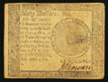 Colonial Notes:Continental Congress Issues, Continental Currency September 26, 1778 $60 Very Fine.. ...