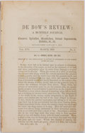 Books:Americana & American History, [Slavery]. De Bow's Review: A Monthly Journal of Commerce,Agriculture, Manufactures, Internal Improvements, etc. Vol.X...