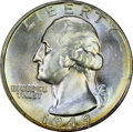 Washington Quarters: , 1949 25C MS67 PCGS. PCGS Population (41/1). NGC Census: (117/2).Mintage: 9,312,000. Numismedia Wsl. Price for problem free...