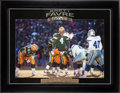 Football Collectibles:Photos, Brett Favre Signed Oversized Photograph....