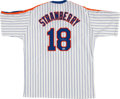 Baseball Collectibles:Uniforms, Darryl Strawberry Signed New York Mets Jersey....