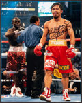 Boxing Collectibles:Autographs, Manny Pacquiao Signed Oversized Photograph....