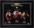 Miscellaneous Collectibles:General, Triple Crown Glory Multi Signed Horse Racing Oversized Prints Lotof 2. ...