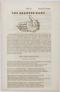 Books:Americana & American History, John G. Whittier. The Branded Hand Anti-Slavery Tract.Anti-Slavery Bugle, n.d., circa 1850s. Four printed pages...