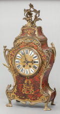 Decorative Arts, French, A LOUIS XIV-STYLE FRENCH BOULLE CLOCK WITH GILT BRONZE MOUNTS. 19thcentury. 28 inches high (71.1 cm). Estate of Gerry Lan...