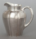Silver Holloware, American:Pitchers, AN AMERICAN SILVER HAND HAMMERED LOBED PITCHER. The Kalo Shop,Chicago, Illinois, circa 1915. Marks: STERLING, HANDWROUGH...