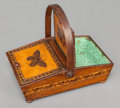 Paintings, A TURNBRIDGEWARE BOX. Early 20th century. 6-3/4 inches high x 7 inches wide (17.1 x 17.8 cm). ...