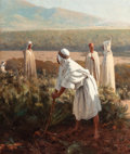 Fine Art - Painting, European:Antique  (Pre 1900), PAUL JEAN BAPTISTE LAZERGES (French, 1845-1902). In theDesert. Oil on canvas. 32-1/2 x 27 inches (82.6 x 68.6 cm).Sign...
