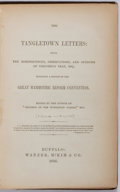 Books:Americana & American History, [Elhanan Winchester Reynolds]. The Tangletown Letters: Being theReminiscences, Observations, and Opinions of Timotheus ...