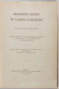 Books:Americana & American History, Governor William Bradford. History of Plymouth Plantation.Boston: Wright & Potter, 1898. Publisher's binding. Large...