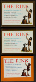 Books:Music & Sheet Music, [Richard Wagner]. The Ring. Adapted and Illustrated by JohnUpdike and Warren Chappell. Knopf, [1964]. Three c... (Total: 3Items)