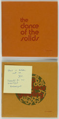 Books:Fine Press & Book Arts, John Updike. The Dance of the Solids. [N.p.: n.d., ca.1970]. First edition. Signed by Updike. From the collec...