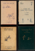 "Books:Children's Books, A.A. Milne. The Four ""Pooh"" Books. London and New York: Methuen andE. P. Dutton, [1924-1928]. Mixed editions (including two... (Total:4 Items)"