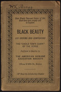 Books:Children's Books, Anna Sewell. Black Beauty. His Grooms and Companions.Boston: American Humane Education Society, [1890]. First A...