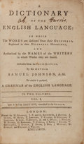 Books:Literature Pre-1900, Samuel Johnson. A Dictionary of the EnglishLanguage... London: W. Strahan [and 24 others], 1778.Sixth ... (Total: 2 Items)