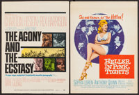 "The Agony and the Ecstasy & Others Lot (20th Century Fox, 1965). Window Cards (2) (14"" X 22""), Trimmed Win..."