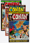Bronze Age (1970-1979):Adventure, Conan the Barbarian Group (Marvel, 1971-73) Condition: Average VF.... (Total: 16 Comic Books)