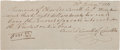 Autographs:Statesmen, Charles Carroll of Carrollton Autograph Document Signed....