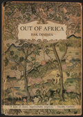 Books:Fiction, Isak Dinesen. Out of Africa. New York: Random House, 1938. Early printing....