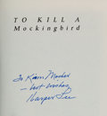 Books:Fiction, Harper Lee. To Kill a Mockingbird. New York: Harper Collins,[1998]. Later printing of the 35th anniversary edit...