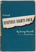 Books:Fiction, George Orwell. Nineteen Eighty-Four. New York: Harcourt,Brace and Company, 1949. Stated first American edition....