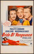 "Movie Posters:Adventure, Bride of Vengeance (Paramount, 1949). Window Card (14"" X 22"").Adventure.. ..."