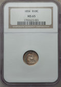 Seated Half Dimes, 1856 H10C MS65 NGC....