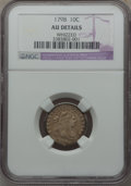 Early Dimes, 1798/97 10C 16 Stars on Reverse -- Whizzed -- NGC Details. AU.JR-1, R.3....