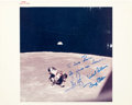 "Autographs:Celebrities, Apollo 11 Crew-Signed Original NASA Color Glossy ""Red Number""Photo. ..."