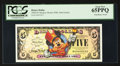 Miscellaneous:Other, Disney Dollar 2008 $5 Mickey Mouse 80th Anniversary. PCGS Gem New65PPQ.. ...