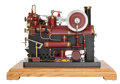 Paintings, LIVE STEAM EXHIBITION MODEL HORIZONTAL ENGINE. 18 x 23 x 15 inches (45.7 x 58.4 x 38.1 cm). Finely engineered and presented ...