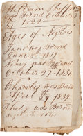 Autographs:Statesmen, [Slavery]. Phipps Family of Georgia Bible Listing Slave Births,...