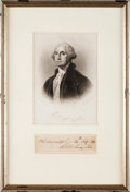 Autographs:U.S. Presidents, George Washington Clipped Signature....