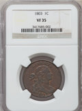 Large Cents, 1803 1C Small Date, Large Fraction VF35 NGC. S-261, B-20, R.2....
