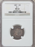 Early Dimes, 1807 10C MS62 NGC. JR-1. PCGS Population (21/59). Mintage: 165,000.Numismedia Wsl. Price for problem fr...