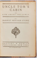 Books:Literature Pre-1900, Harriet Beecher Stowe. Uncle Tom's Cabin. New York: Grosset & Dunlap, [n.d.]. Later reprint. Rebound in half calf wi...