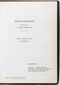 Entertainment Collectibles:Movie, [Production Script]. Jane-Howard Hammerstein. Summer of MyGerman Soldier. Copy of shooting script. Ca. 1978. Quarto...