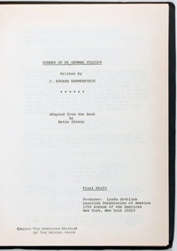 [Production Script]. Jane-Howard Hammerstein. Summer of My German Soldier. Copy of shooting scr