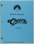 Entertainment Collectibles:TV & Radio, [Production Script]. Cheers. Shooting script for season fourepisode, Cliffy's Big Score, written by H...