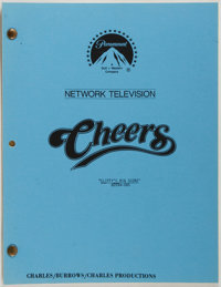[Production Script]. Cheers. Shooting script for season four episode, Cliffy's